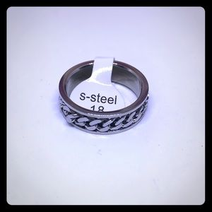 Stainless Steel Unisex Ring Silver Links [JW-131]